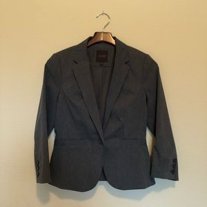 The Limited Blazer - Exact Stretch Gray Small